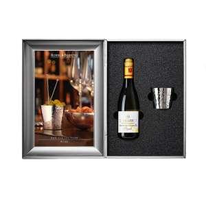 Wein - Geschenkset versilbert