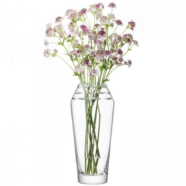 Vase 34 cm klar/geschliffen