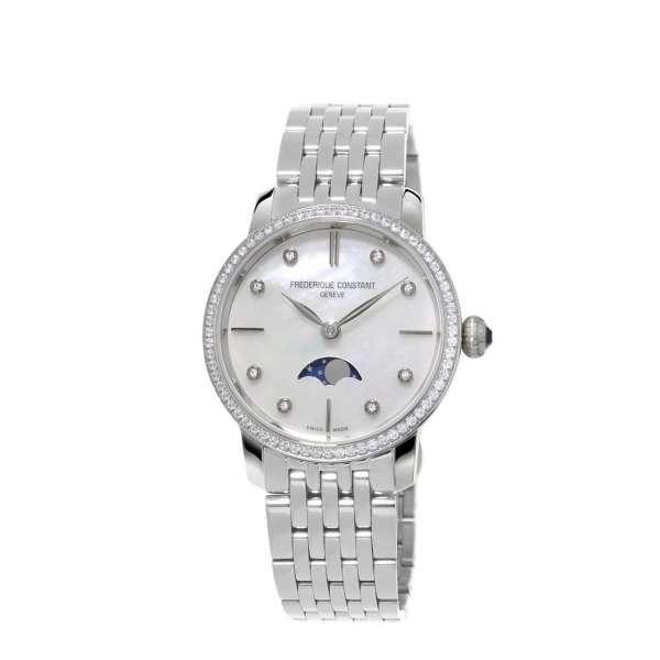 Armbanduhr Ultra Slim Mondphase 76 Diamanten 0,58 ct