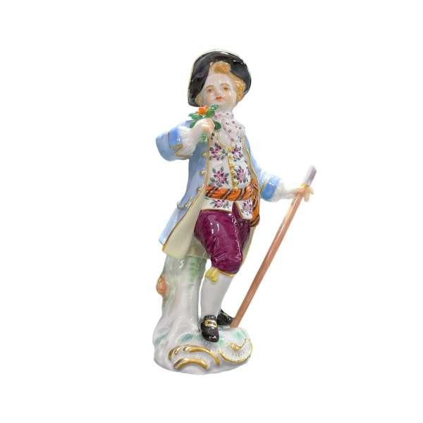Gärtnerkind mit Schäferstab 13 cm