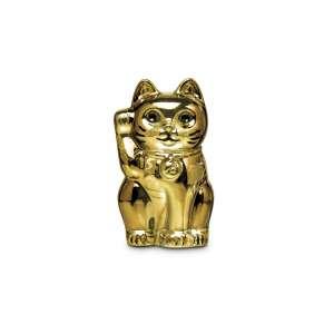 Katze Maneki Neko vergoldet