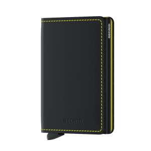 Slimwallet Matte black & yellow