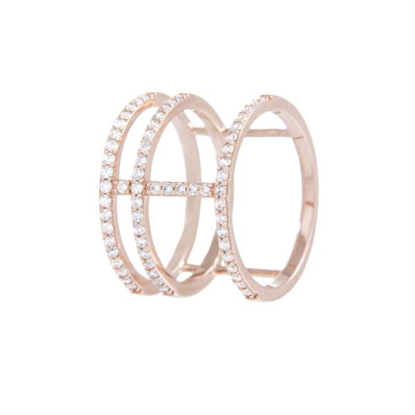 Ring Geometric Zirkonia Bronze plattiert