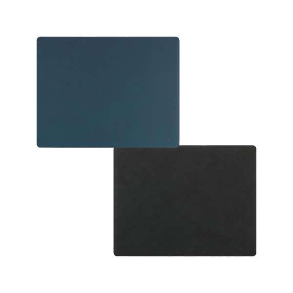 Tischset Double Nupo dunkel blau/schwarz