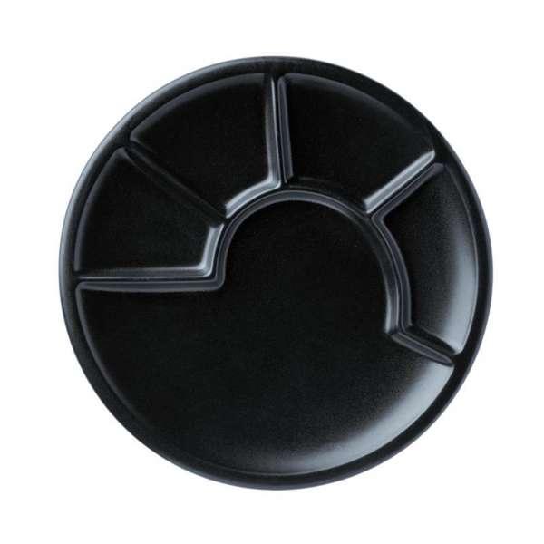 Teller schwarz 23 cm