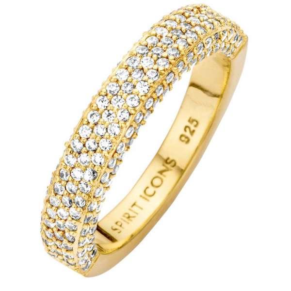 Ring Gold Zirkonia Sterlingsilber