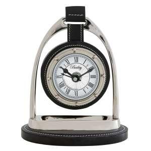 Uhr vernickelt schwarz
