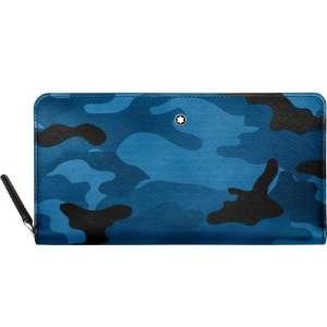 Brieftasche 12 cc m. Reißverschluss Sartorial Camouflage, blau