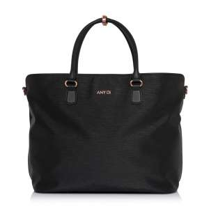 Shopper Bag schwarz Rosegold RO