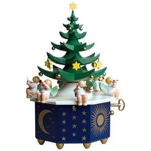 Spieldose Tannenbaum, Am Weihnachtsbaume die Lichter brennen