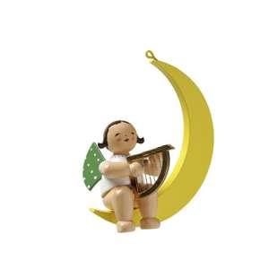 Engel m. Harfe im Mond