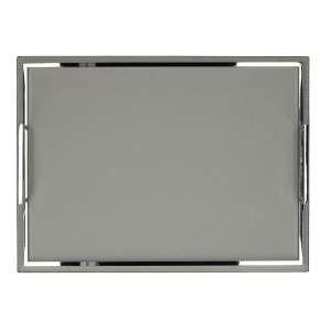 Tablett 27x37 cm, Golf grau, Naht grau