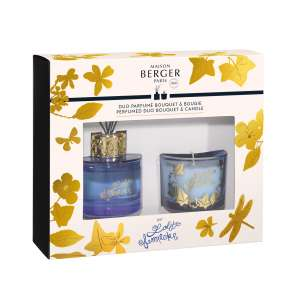 Scented bouquet Cube 80ml + candle 80g - parme