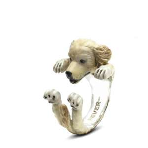 Ring Golden Retriever Sterlingsilber 925 L