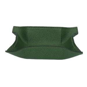 Schale eckig klein, Golf grün, Naht grün