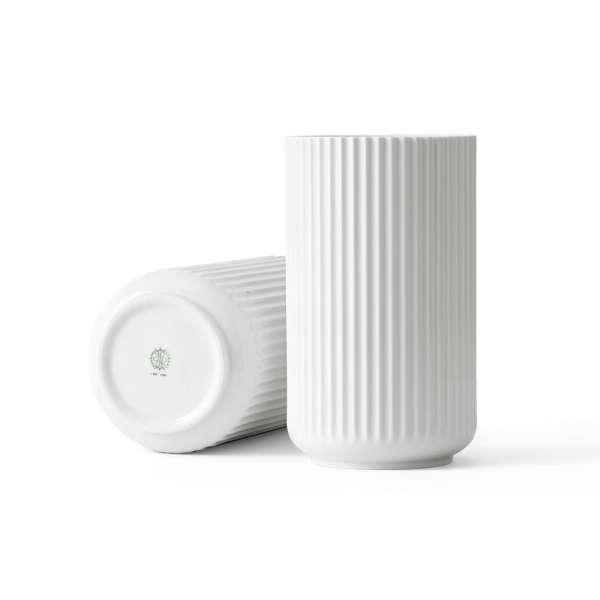 Vase 25 cm weiß