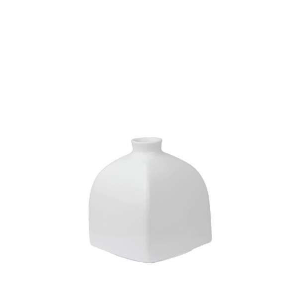 Vase Würfelform klein 8,5 cm weiß
