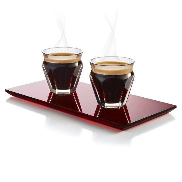 Kaffee Set m. Tablett