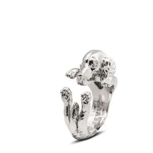 Ring Irish Red Setter925/- Sterling Silber S