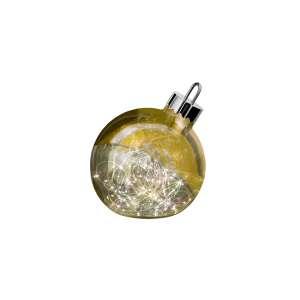Dekoleuchte Ornament 25 cm gold