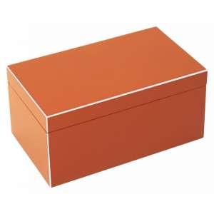 Schmuckbox mittel orange/weiß