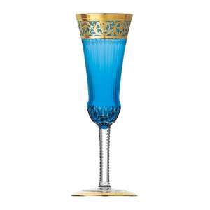 Champagnerflöte himmelblau