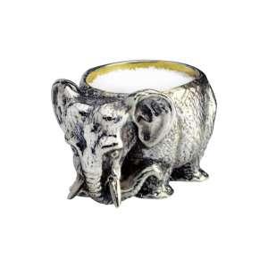 Salzfass Elefant Sterling Silber mit Löffel verg.