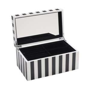Schmuckbox mittel Stripes schwarz/weiß