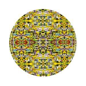 Tablett rund 45 cm gelb