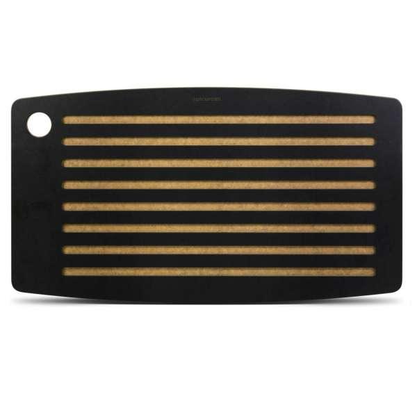 Brot-Schneidebrett Muskat 46x25 cm schwarz