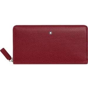 Brieftasche 8 cc m. Reißverschluss Soft Grain, rot