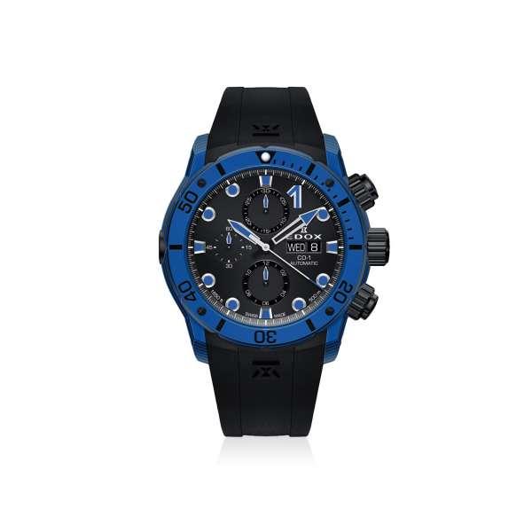 Armbanduhr CO-1 Chronograph Automatik Carbon blau