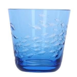 Becher Fischschwarm aqua