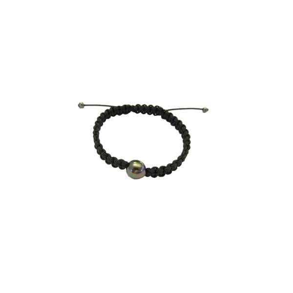 Armband schwarz Tahitizuchtperle 10-11 mm