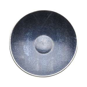 Schale Crocco 30 cm blau versilbert
