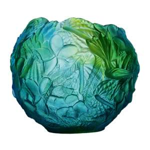 Vase 22 cm blau/grün