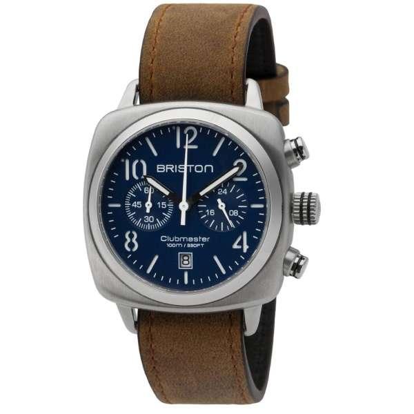 Clubmaster Classic Chronograph Datum marine blau Edelstahl