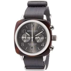 Clubmaster Classic Chronograph Datum graues Zifferblatt Acetat/Edelstahl