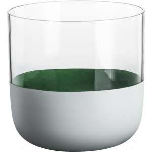 Vase 18 cm dunkelgrün