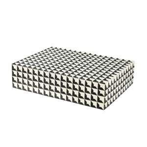 Box L 40x30 cm schwarz/weiß