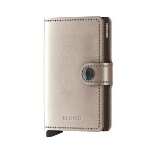 Miniwallet Metallic champagne/brown