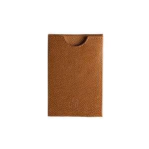 Kreditkartenetui RFID geprägtes Leder cognac