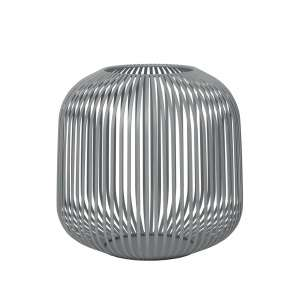 Laterne M 27 cm steel gray