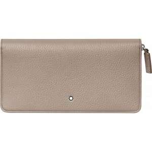 Brieftasche 8 cc m. Reißverschluss Soft Grain, beige
