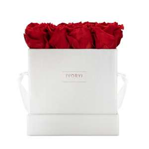 Flowerbox large, romantic red