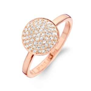 Ring Rotgold Zirkonia Sterlingsilber