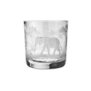 Whiskybecher Elefant 9,9 cm klar