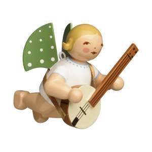 Engel mit Banjo, schwebend