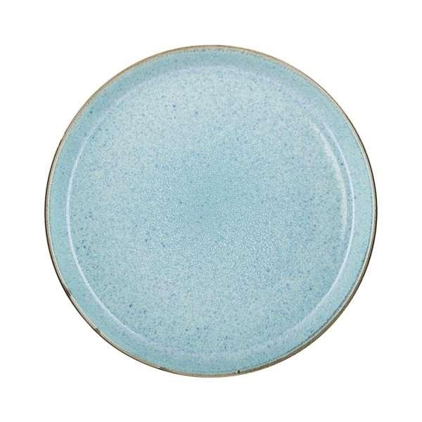 Speiseteller 27 cm grau/hellblau