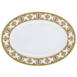 Platte oval 34 cm weiß